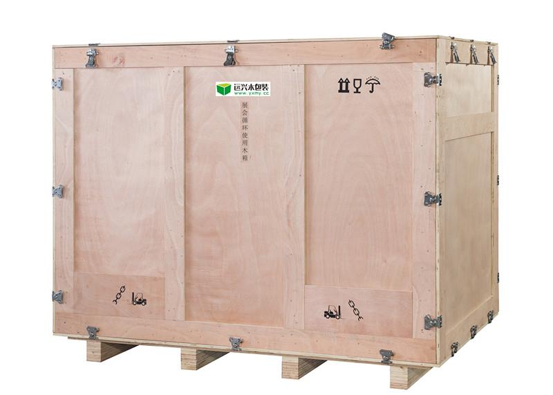 卡扣式循环使用大型木质包装木箱